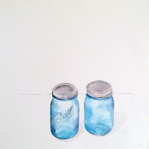 Watercolor-Pencil Drawings