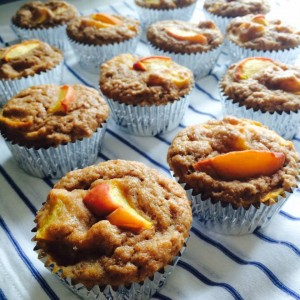 ginger peach muffins