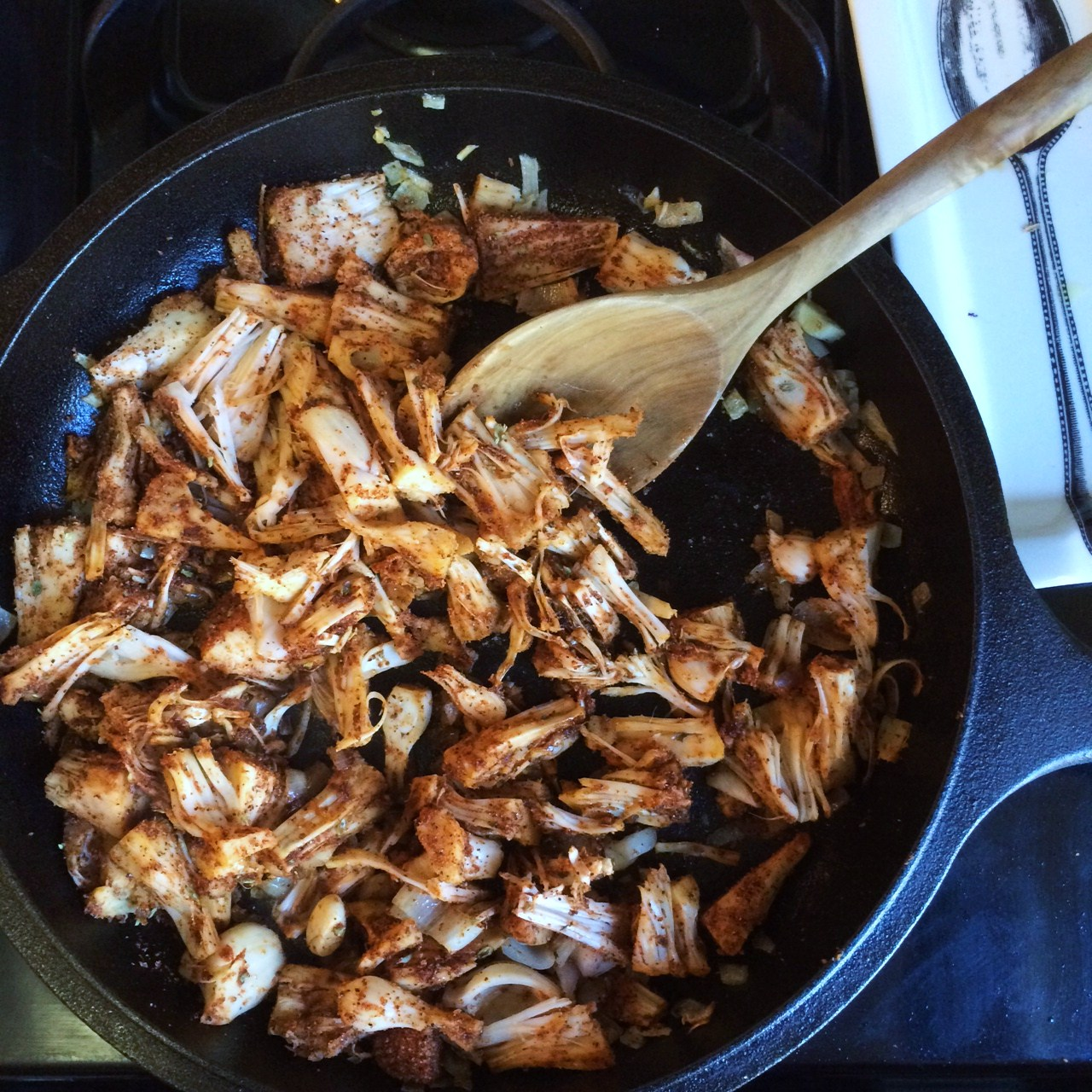 jackfruit with bbq rub